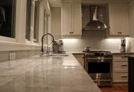 Kitchen renovation with new countertops in London